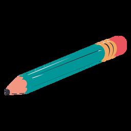 Lápiz azul dibujado a mano