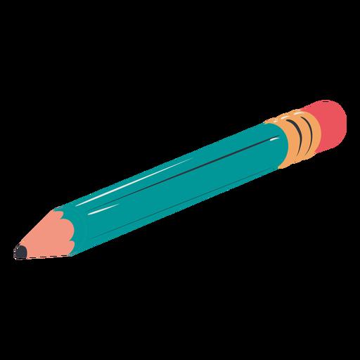Lápiz azul dibujado a mano Transparent PNG