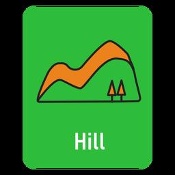 Cartão verde colina