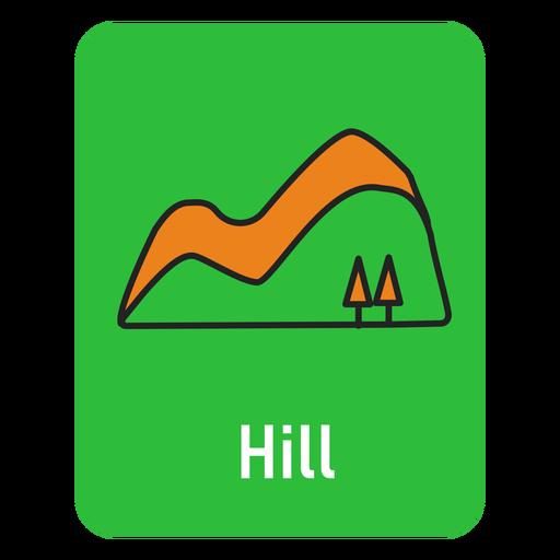 Hill green flashcard