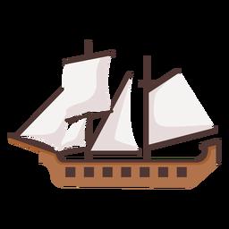 Ilustración histórica del barco de carabela