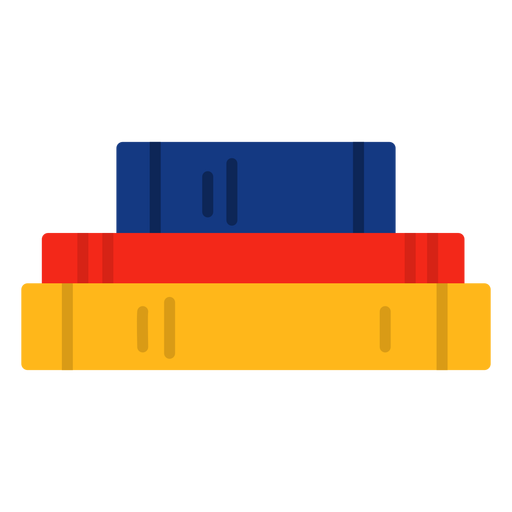 Libros apilados horizontales planos