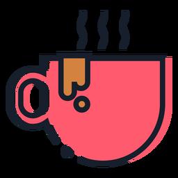 Icono de trazo de taza de café caliente
