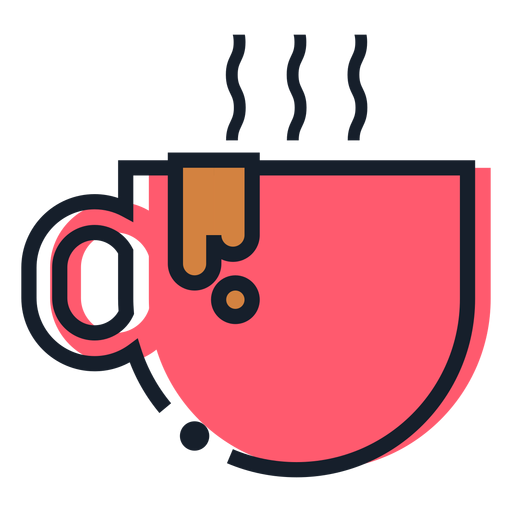 Hot coffee cup stroke icon