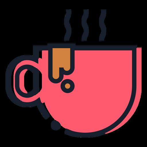 Icono de trazo de taza de café caliente Transparent PNG
