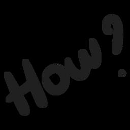 Cómo pregunta doodle
