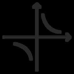 Trazo gráfico de función hiperbólica