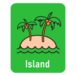 Island green flashcard