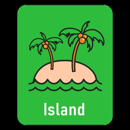 Island green flashcard