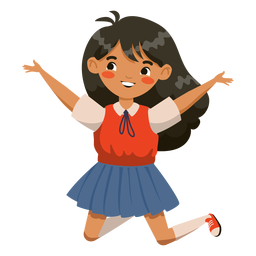 Jumping girl character