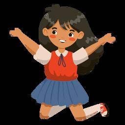 Personagem de menina pulando