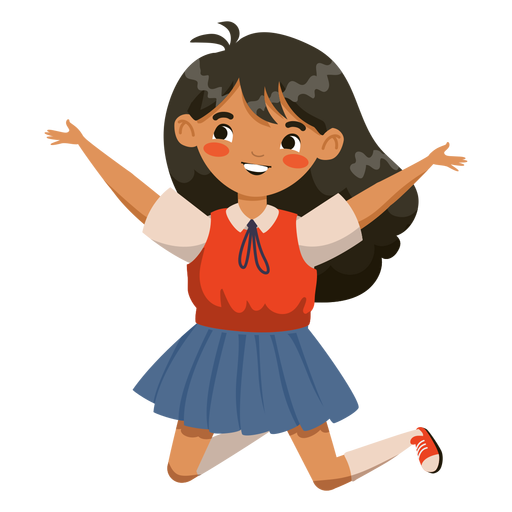 Jumping girl character Transparent PNG