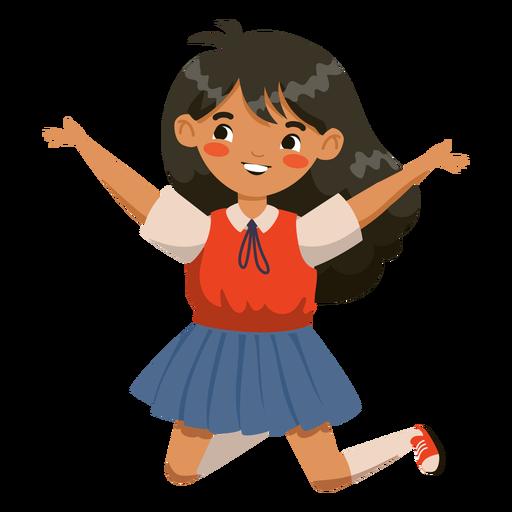 Personaje de niña saltando