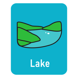 Lake lightblue flashcard