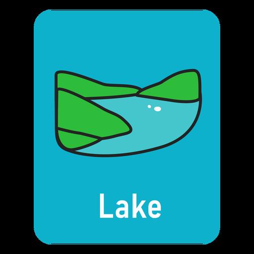 Lake lightblue flashcard