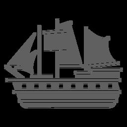 Gran carabela histórica negra