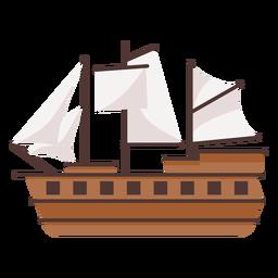 Gran ilustración de carabela histórica