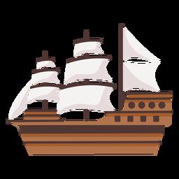 Ilustración histórica grande del barco de carabela