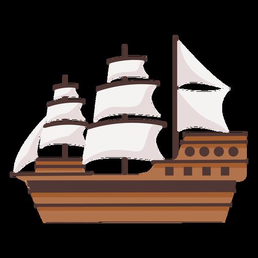 Large historic caravel ship illustration
