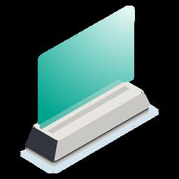 Large translucid monitor illustration