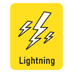 Lightning yellow flashcard