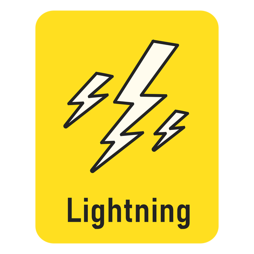 Flashcard amarillo rayo