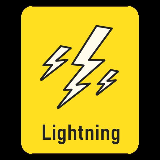 Lightning yellow flashcard