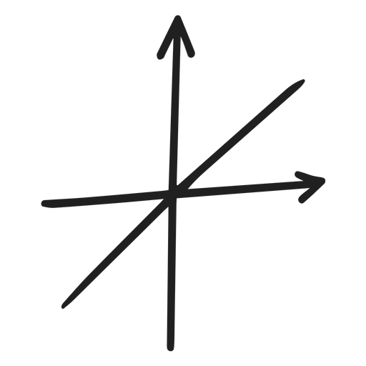 Doodle de gráfico de función lineal