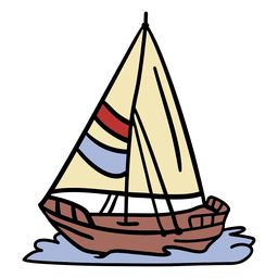 Modern sail ship illlustration