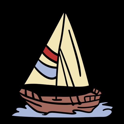 Ilustración de barco de vela moderno