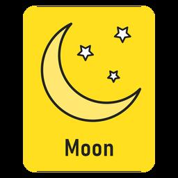Cartão amarelo lua