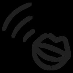 Boca hablando doodle