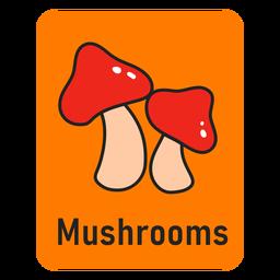 Cartão de cogumelo laranja