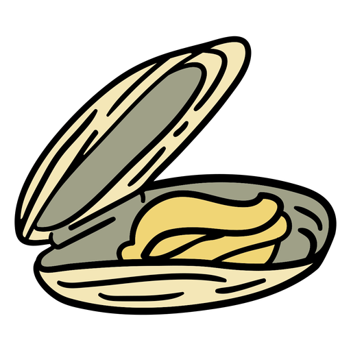 Mussel dish hand drawn Transparent PNG
