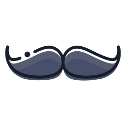 Icono de trazo de bigote