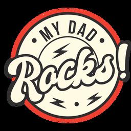 Mi papá mece la insignia