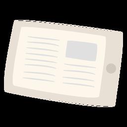 Artigo de notícias no tablet