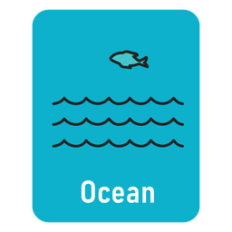 Ocean lightblue flashcard
