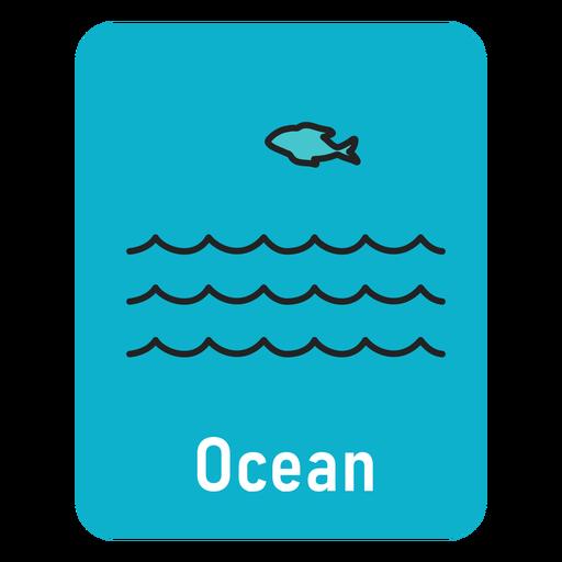 Flashcard océano azul claro