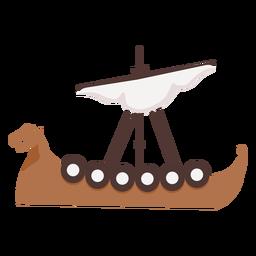 Un barco vikingo de vela
