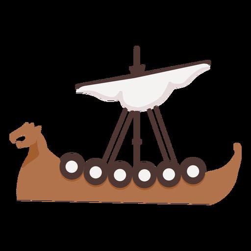 One sail viking ship