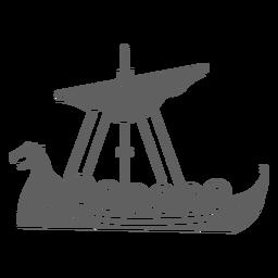 Una vela barco vikingo negro