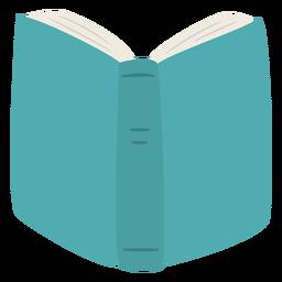Libro azul abierto