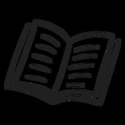 Libro abierto, garabato