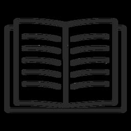 Libro abierto trazo abierto