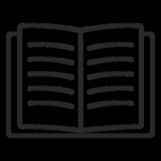 Trazo de libro abierto abierto