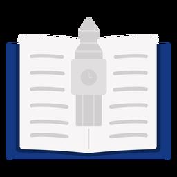 Open book with big ben
