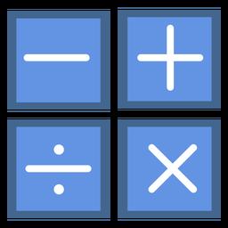 Iconos planos de operaciones