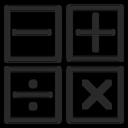 Iconos de trazo de operaciones