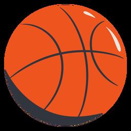 Dibujado a mano baloncesto naranja